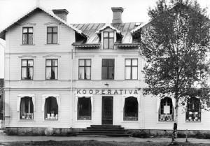 Kooperativa handelsföreningen i Bräckes butikslokal.  Foto: Jamtli